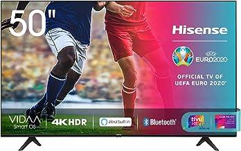 "Hisense 50AE7000F, Smart TV LED Ultra HD 4K 50"", HDR 10+, Dolby DTS, con Alexa integrata, Tuner DVB-T2/S2 HEVC Main10 [Esc..."