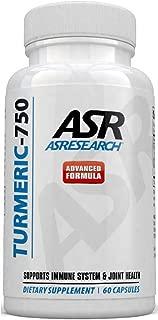 AS Research Turmeric Curcumin Black Pepper Capsules (Bioperine) | 2250mg | Inflammation Support & Joint Pain Relief | Vegan, Non-GMO, Gluten Free Tumeric 60 Capsules