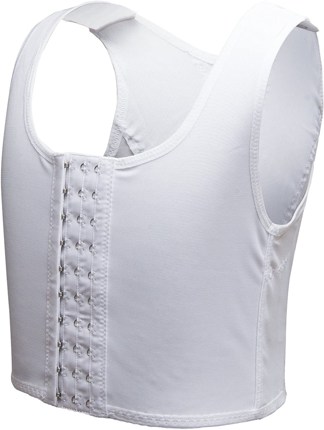 Lesbian Breathable Super Flat Les Compression 3 Rows Central Clasp Chest Binders