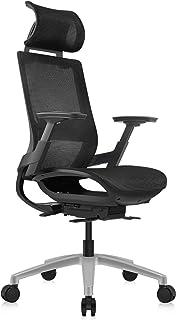 MOOJIRSゆったり包み込むヘッドレストと傾斜リミッター付きの人間工学的なオフィスチェア |クッション高さ調整可能 | ヘッドレスト高さ調整可能 | 腰サポート調整可能 | 3D調整可能アームレスト | 汎用カーペット用キャスター付きのブラッ...