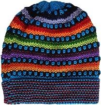 Gamboa Multicolor Hand Knit Alpaca Beanie Hat Cap