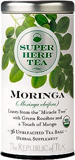 The Republic of Tea Organic Moringa Superherb Herbal Tea, Caffeine-Free, Non-GMO Verified (36 Tea Bags)