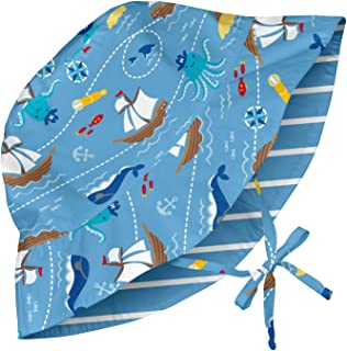 i play. Mix and Match Reversible Bucket Sun Protection Hat for 0 to 6 Months Babies, Light Blue