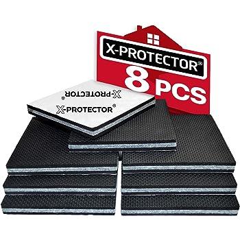 Pies antideslizantes X-PROTECTOR protectores de goma para patas Primero almohadillas antideslizantes ideales protectores de piso mant/én tus muebles en su lugar 8 piezas 50 mm patas de goma