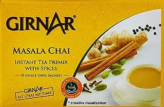 Girnar Instant Chai (Tea) Premix With Masala Unsweetened, 10 Sachet Pack