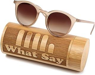 What Say ボストン フレーム カラーレンズ サングラス 全8色 アジアンフィット トレンド UV400 メンズ レディース ソフト & ハードケース