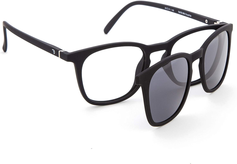 DIDINSKY Gafas de Presbicia con Filtro Anti Luz Azul con Capa de Sol. Gafas Clip on Imantadas para Hombre y Mujer. 6 Colores 0.0-1.5 - 2.5 – TATE CLIP ON
