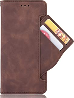 Card slot Case for Motorola MOTO ONE ZOOM,Leather Stand Wallet Flip Case Cover for Motorola MOTO ONE ZOOM,Retro magnetic P...