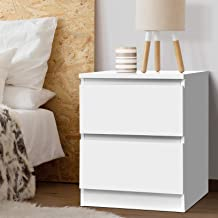 Artiss Bedside Table Timber Storage Drawers Sofa Side Table - White