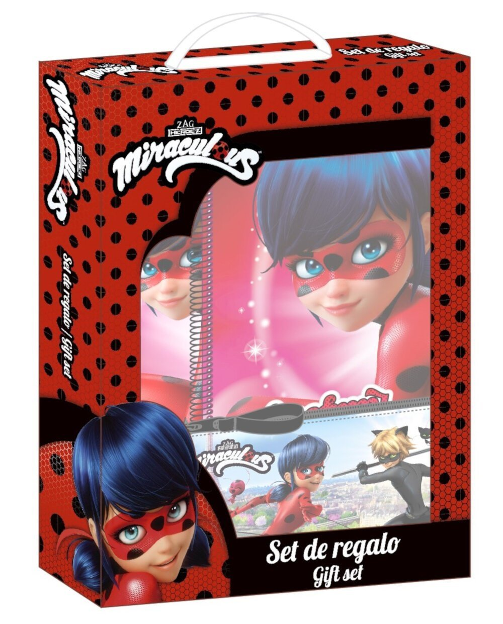 Ladybug & Cat Noir - Set de regalo: libreta, carpeta y estuche (Safta 311716587): Amazon.es: Hogar
