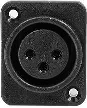 Seismic Audio SAPT229 3 Pole XLR Female Vertical PCB Mount Connector and Fits Series D Pattern Holes Pro Audio, Black