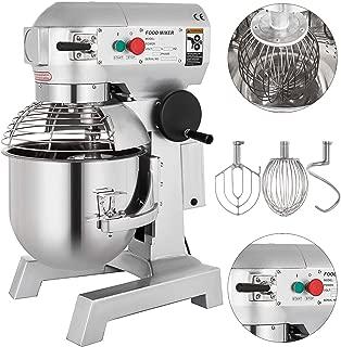 Happybuy Commercial Food Mixer 750W Dough Mixer Maker 3 Speeds Adjustable Commercial Mixer Grinder 105 180 and 408 RPM Stand Mixer 20qt
