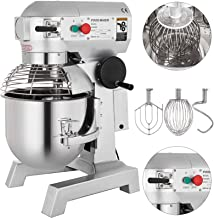 Happybuy Commercial Food Mixer 30Qt 1100W Dough Mixer Maker 3 Speeds Adjustable Commercial Mixer Grinder 94/165/386 RPM Stand Mixer