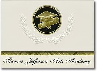 Signature Announcements Thomas Jefferson Arts Academy (Elizabeth, NJ) Graduation Announcements, Presidential style, Elite ...