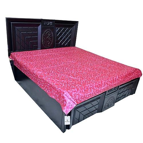 Kuber Industries Plastic Mattress Protector Sheet (6.5 Ft x 6.5 Ft), Pink