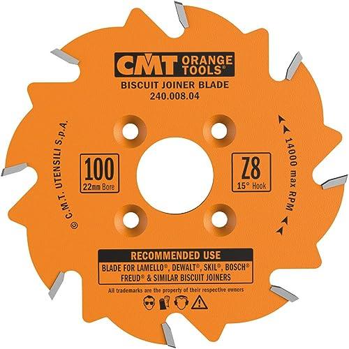 discount CMT 240.008.04 Biscuit discount Joiner Blade, 4-Inch Diameter discount x 8 Teeth, PTFE-Coated. sale