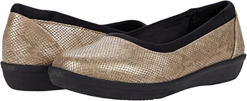Taupe Snake Print Synthetic