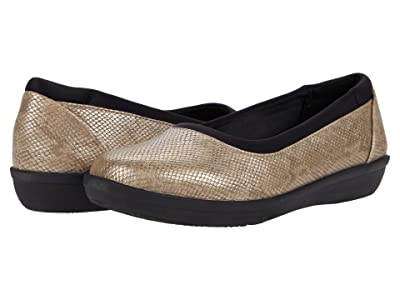 Clarks Ayla Low (Taupe Snake Print Synthetic) Women