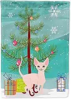Caroline`s Treasures BB4432GF Sphynx Cat Merry Christmas Tree Flag Garden Size, Small, Multicolor