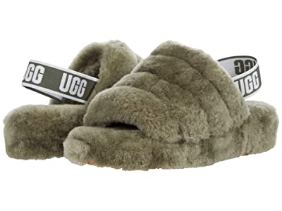 UGG Fluff Yeah Slide (Burnt Olive) Women