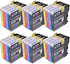 PerfectPrint - 24 Cartuchos de tinta compatibles Brother LC-980 LC-1100 para MFC-250C MFC-255CW MFC-290C MFC-295CN MFC-297C MFC-490CN MFC-5490CN MFC-5890CN MFC-790CW MFC-795CW MFC-6490CW MFC-6890CDW MFC-990CW DCP-145C DCP-163C DCP-165C DCP-167C DCP-185C DCP-195C DCP-365CN DCP-373CW DCP-375