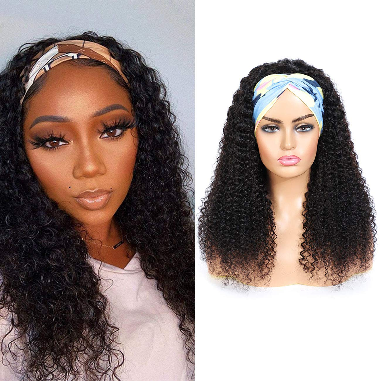 Headband specialty shop Wig Human Hair Chicago Mall Glueless None Wigs Lace Front for Black