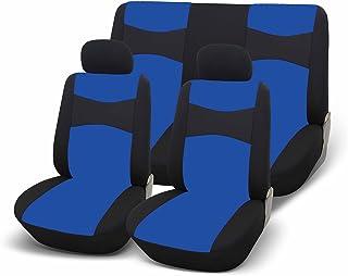 GoodYear 77124 Blue: Universal bilsätesöverdrag, komplett set. Färg svart med blå