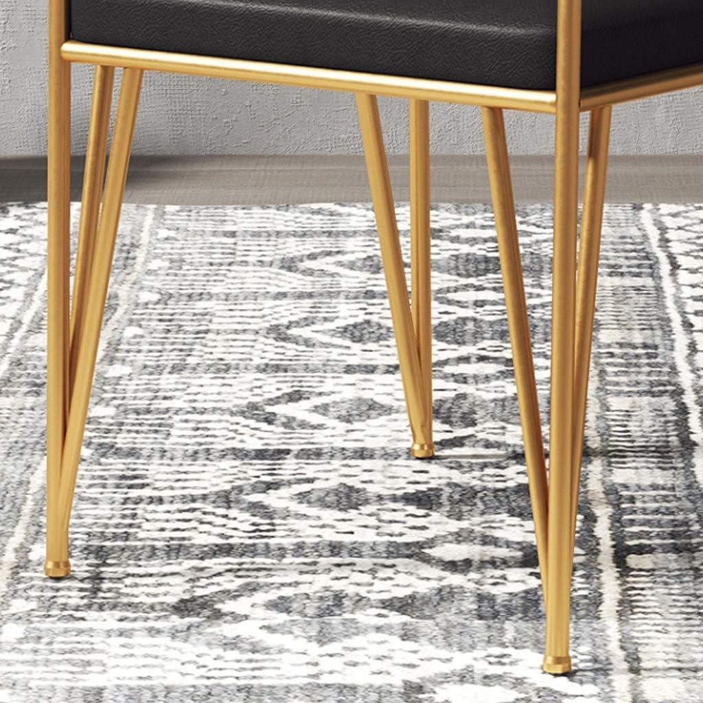 HXF- Chaise de salle à manger, chaise de bureau simple, dossier créatif, chaise de loisirs, chaise de salle à manger pour adulte durable (couleur : marron) Noir-b