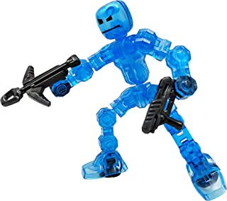 ZING Klikbot Single - Cosmo - Blue - Great for stop motion animation action figure, perfect for boys and girls to add this...