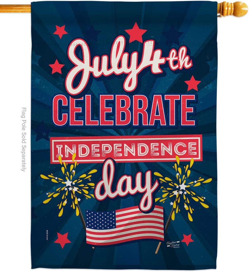 Angeleno Indianapolis Mall Heritage Celebrate NEW before selling ☆ Independence Day Patrioti Flag House