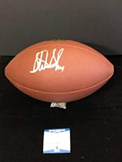 Signed Sterling Sharpe Football - South Carolina BAS - Beckett Authentication - Autographed Footballs