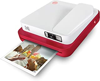 KODAK SMILE Classic Cámara Instantánea Digital c/Bluetooth (Roja) 16MP 35 impresiones p/carga – Incluye papel ZINK 35 x 425 marcos con stickers