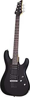 Schecter 430 C-6 Deluxe Solid-Body Electric Guitar, Satin Black