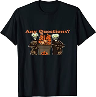 Halloween T shirt |David S. Pumpkins Any Questions Halloween