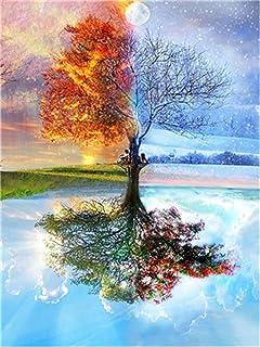 mit Rahmen Malset mit vorgedruckter Leinwand f/ür Gem/älde Acrylfarben Kreativ Motiv 40*50cm Bank im Wald MARPL/® Malen nach Zahlen Erwachsene DIY-Kit