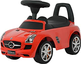 Dorsa Premium Quality Ride On Cars Mercedes Benz SLS AMG Push Car, Red, 332-MRED