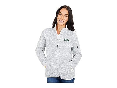 L.L.Bean Petite Sweater Fleece Full Zip Jacket (Pewter) Women