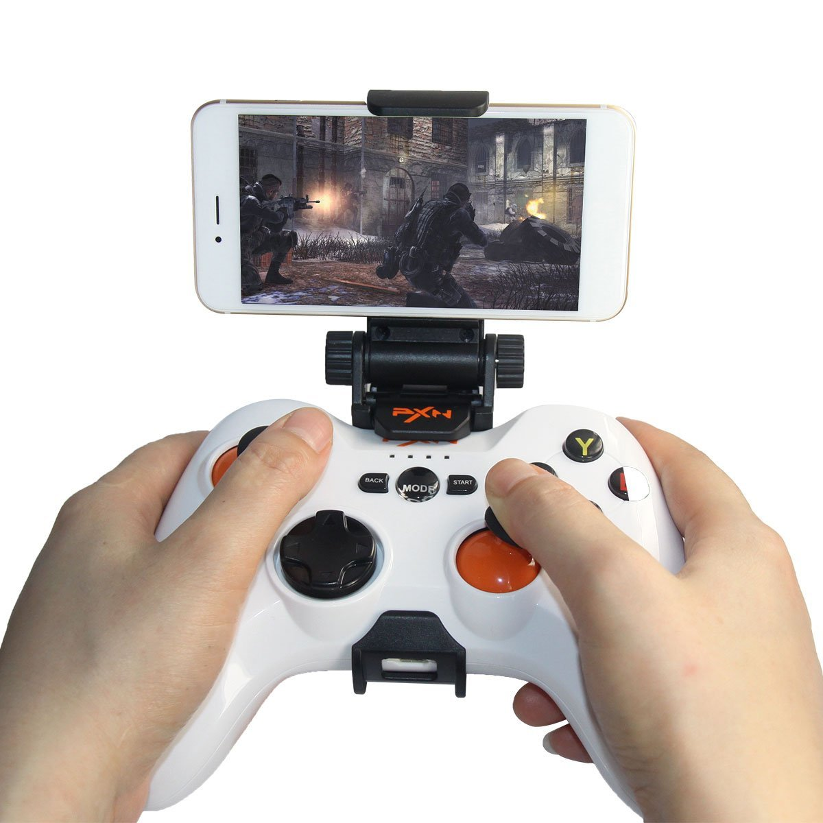 PXN-9613 2.4G Inalámbrico Gamepad Universal Controlador Mando Juego para Samsung Android TV Box Tablet PC 360(Blanco): Amazon.es: Electrónica