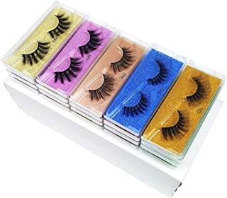 Wholesale lashes 10/20/30/50/100 Pairs 3D Faux Mink Lashes Natural False Eyelashes Hand Made Makeup Mink Eyelashes Pack In...