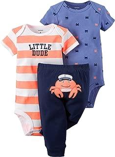 Carter's Baby Boys' 3-Piece Bodysuit & Pant Set