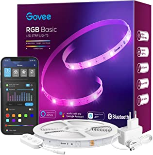 Govee LED Strip 15m Alexa, Smart RGB LED Streifen WiFi, LED Band Lichterkette App Steuerung, WLAN mit Alexa und Google Ass...