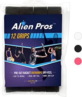 Alien Pros Tennis Racket Grip Tape (1/12 Grips) – Precut and Dry Feel Tennis Grip – Tennis Overgrip Grip Tape Tennis Racket – Wrap Your Racquet for High Performance (1/12 Grips)
