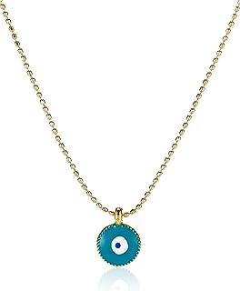 Alwan Gold Plated Evil Eye Necklace for Women - EE3559NEYTR