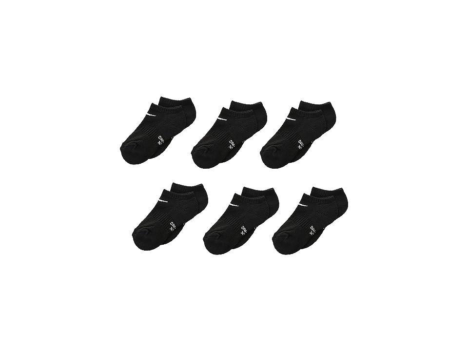 Nike Kids Dri-Fit Performance Basic No Show (Toddler/Little Kid) (Black) Kids Shoes