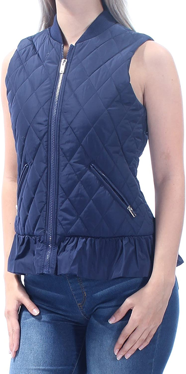 Maison Jules Womens Full Zip Quilted Vest