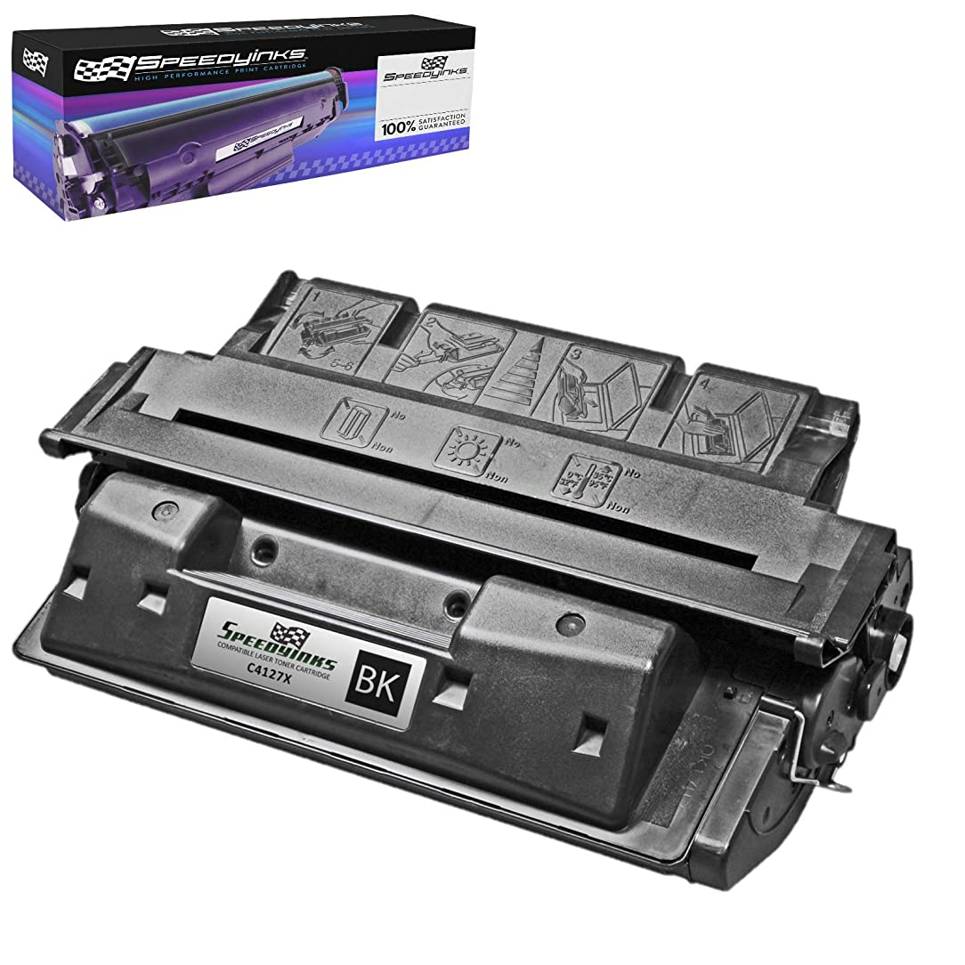 Speedy Inks Remanufactured Toner Cartridge Replacement for HP 27X / C4127X (Black)
