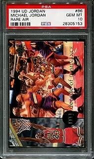 1994 UPPER DECK MJ RARE AIR #86 MICHAEL JORDAN HOF POP 6 PSA 10 K2522924-153