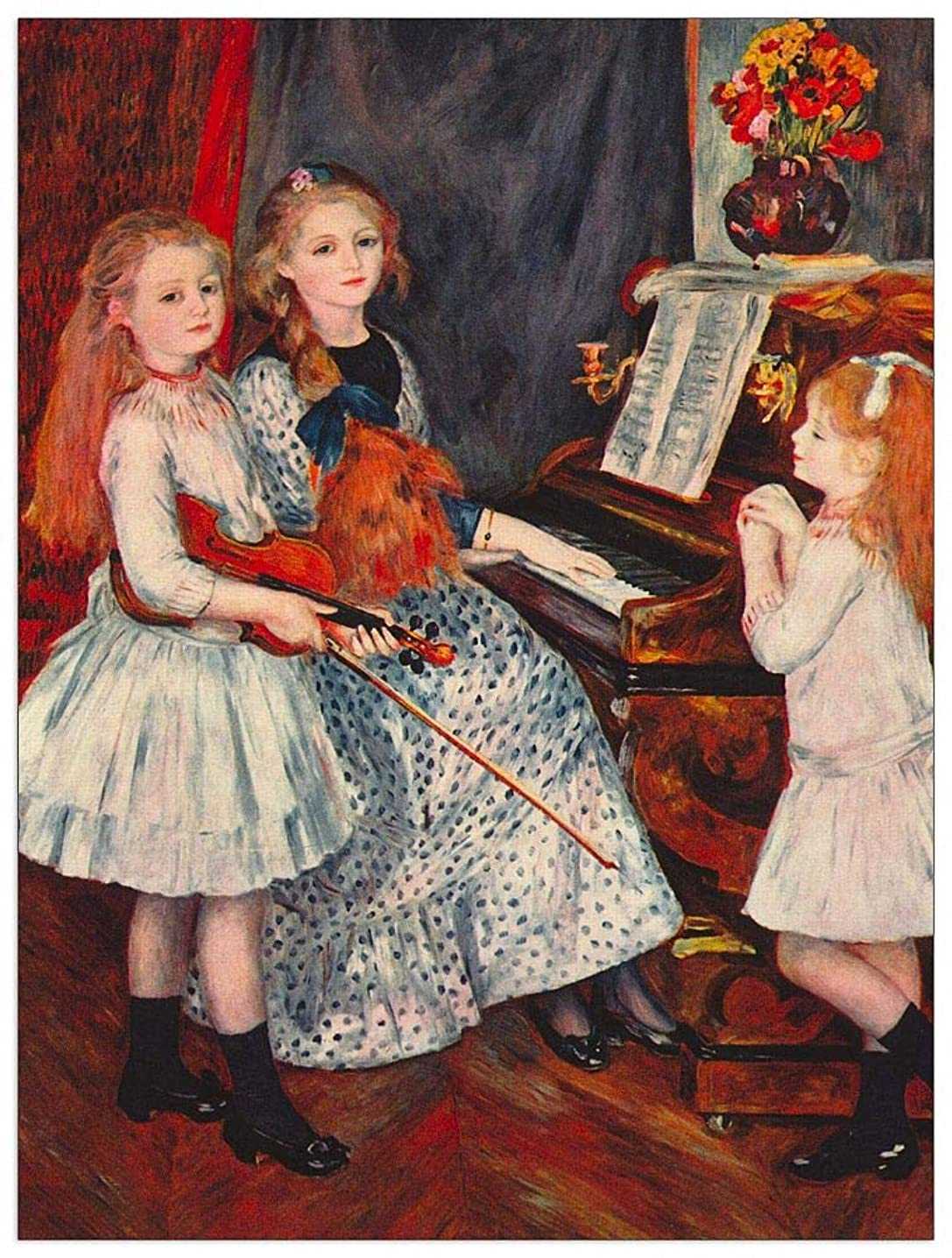 ArtPlaza TW92780 Renoir Pierre-Auguste-Portrait of The Daughters of Catulle Mendeìs-at The Piano Decorative Panel 27.5x35.5 Inch Multicolored