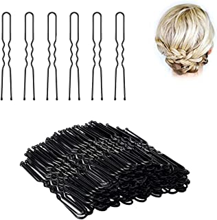 U Shaped Hair Pins,SYBF 100pcs Bun Hair Clip Bobby Pins Hair Pins Kit for Girls Women and Hairdressing Salon,Is Used To Add Coarse Fixed Tool(Black 2.4 inch)
