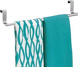 mDesign Stojak na ręczniki kuchenne - kuchenny uchwyt na ręczniki do herbaty do drzwi szafki - nad szafką wieszak na ręczn...